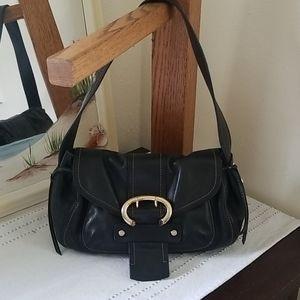 Black leather Francesco Biasia purse